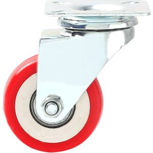 2 inch Red PU Swivel Caster No Brake
