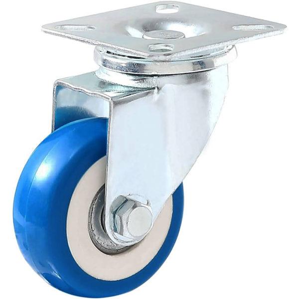 2 inch Blue PU Swivel Caster No Brake