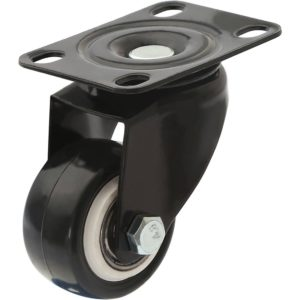 1.5 inch All Black PU Swivel Caster No Brake