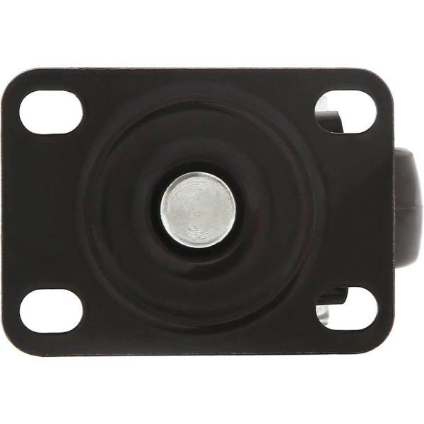 1.5 inch All Black PU Swivel Caster No Brake