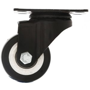 2.5 inch All Black PU Swivel Caster No Brake