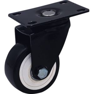 3 inch All Black PU Swivel Caster No Brake