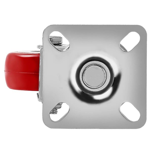 2 inch Red PU Swivel Caster No Brake