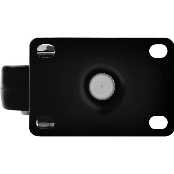 2.5 Inch All Black PU Swivel Caster No Brake
