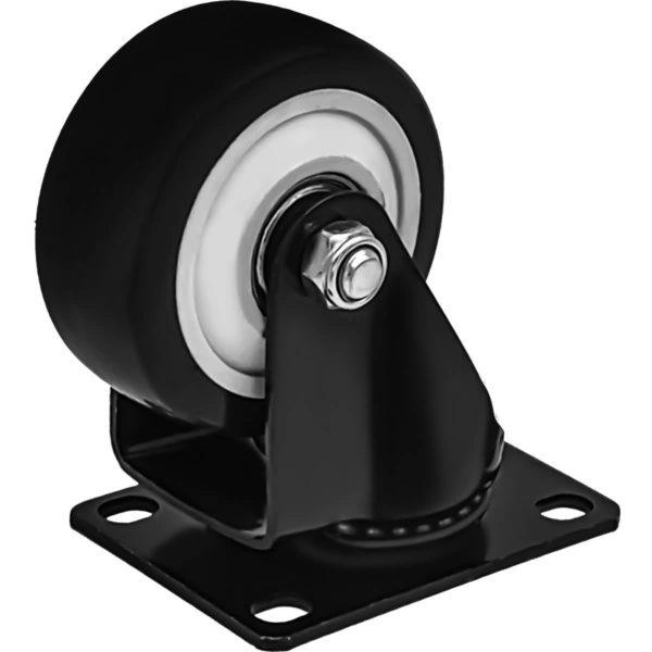 3 inch All Black PU Swivel Caster No Brake