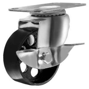 3.5 inch Metal Swivel Caster (Black Wheel) With Brake