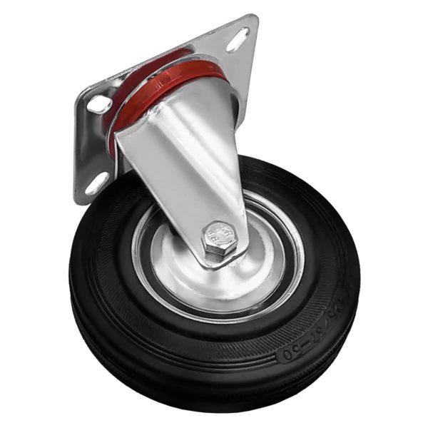 5 Inch Rubber Swivel Caster Wheel No Brake