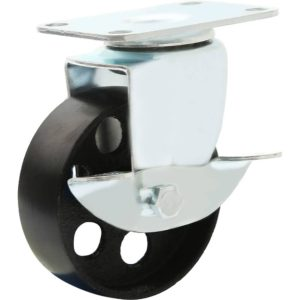 3 inch Metal Swivel Caster (Black Wheel) With Brake