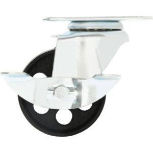 3.5 inch Metal Swivel Caster (Black Wheel) With Brake