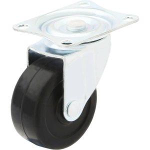 2 Inch Hard Rubber Base Swivel Caster Wheels No Brake