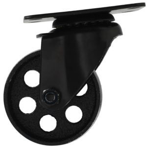 3 Inch All Black Metal Swivel Wheel No Brake