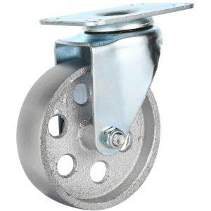 4 Inch All Grey Metal Swivel Wheel No Brake