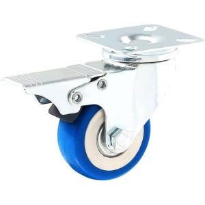 2 inch Blue PU Swivel Caster With Brake
