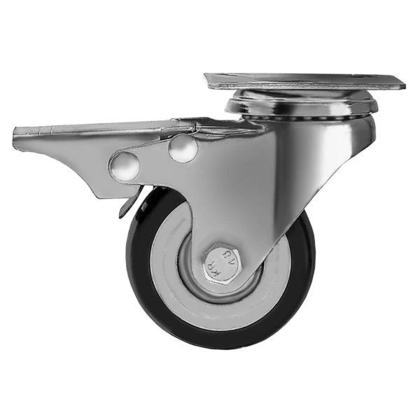 2 inch Black PU Swivel Caster With Brake