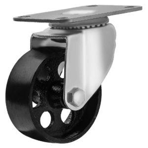 3 inch Metal Swivel Caster (Black Wheel) No Brake