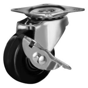 2 Inch Hard Rubber Base Swivel Caster Wheels With Brake