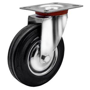 4 Inch Rubber Swivel Caster Wheel No Brake