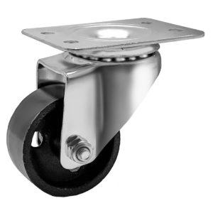 2 inch Metal Swivel Caster (Black Wheel) No brake