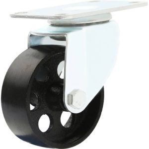 3 inch Metal Swivel Caster (Black Wheel) No Brake