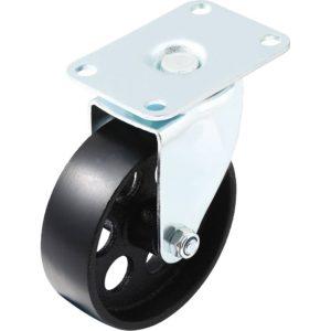 4 inch Metal Swivel Caster (Black Wheel) No Brake