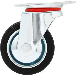 3 Inch Rubber Base Swivel Caster Wheels No Brake