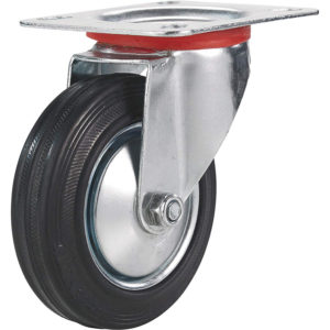 4 Inch Rubber Swivel Caster Wheel No Brake