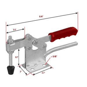 220WH Horizontal Toggle Clamps 800LB Quick Release Dual Hand Tool
