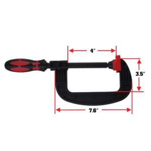 7.6 Inch One Handed Heavy Duty Ratchet C Clamps