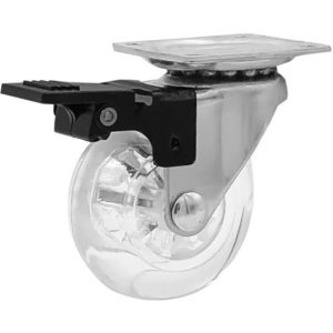 2 Inch Clear Swivel Caster Wheels With Brake