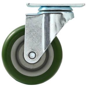 4 inch Green PU Swivel Caster No Brake