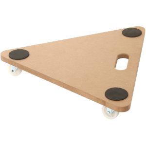 20 inch Dolly Moving Cart Platform 350LB Tringular Wood Mover Platforms
