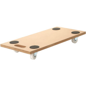 23x12 Inch Dolly Moving Cart Platform 400LB Rectangle Wood Mover Platforms