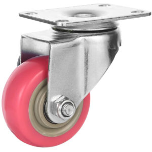 3 inch Pink PU Swivel Caster No Brake