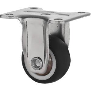 1 Inch Black Rubber Swivel Caster Wheel Rigid