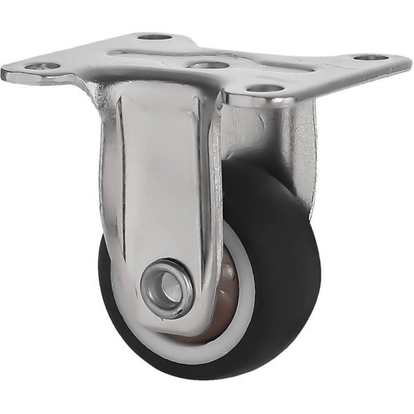 1 Inch Black Rubber Swivel Caster Wheel Rigid
