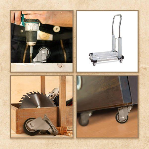 1.5 Inch Black Rubber Swivel Caster Wheel No Brake