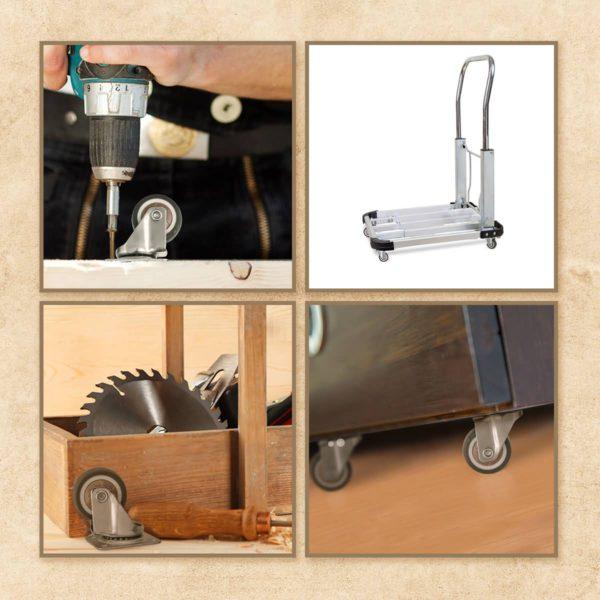 1.25 Inch Brown Rubber Swivel Caster Wheel No Brake