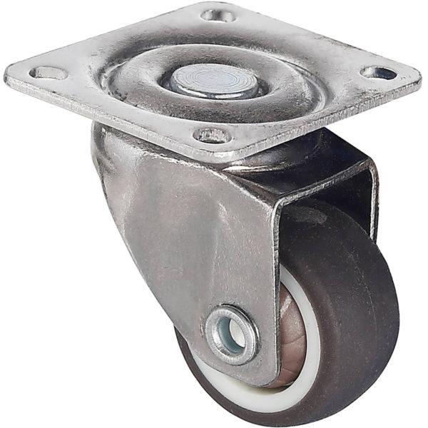 1 Inch Grey Rubber Swivel Caster Wheel No Brake