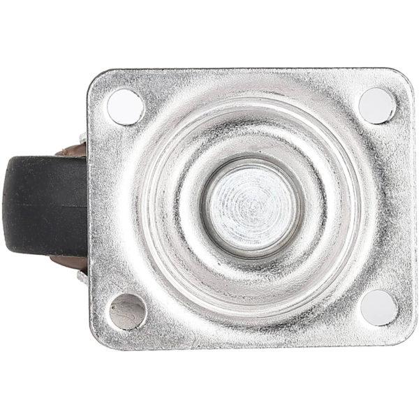 1 Inch Black Rubber Swivel Caster Wheel No Brake