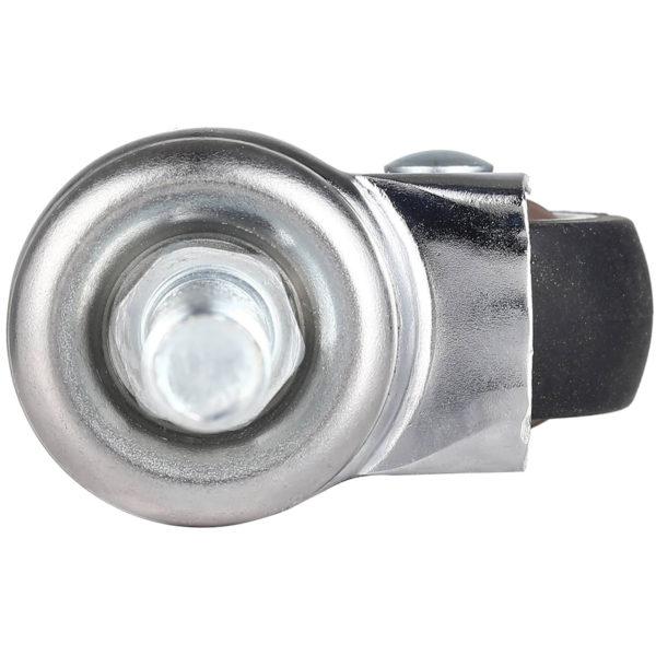 1.5 Inch Hard Rubber 1.1″ Tall Threaded Stem Swivel Caster No Brake
