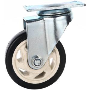 4 inch Black PU Rim Swivel Caster No Brake
