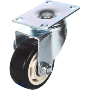 3 inch Black PU Rim Swivel Caster No Brake