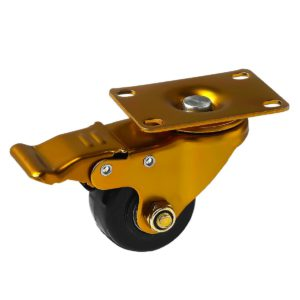 2.5 inch Antique Copper Black PU Swivel Caster With Brake