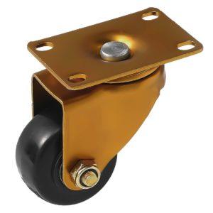 2.5 inch Antique Copper Black PU Swivel Caster No Brake
