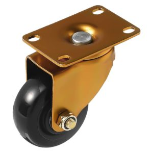 3 inch Antique Copper Black PU Swivel Caster No Brake