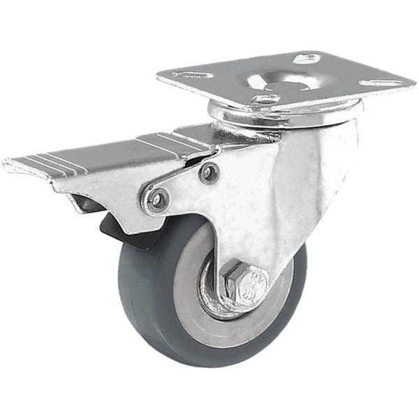 2 inch Grey PU Swivel Caster With Brake