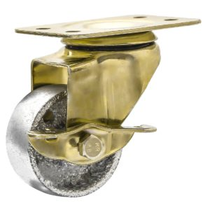 2 Inch All Gold Metal Swivel Wheel With Brake