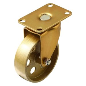 3.5 Inch All Gold Metal Swivel Wheel No Brake