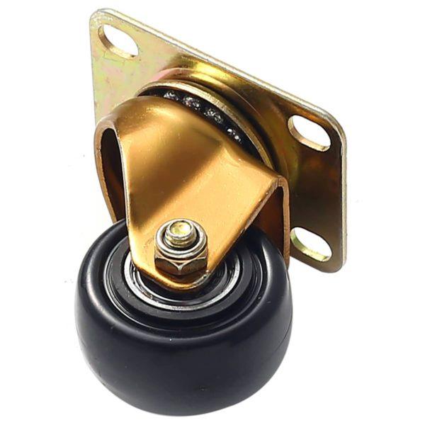1.5 inch Antique Copper Black PU Swivel Caster No Brake