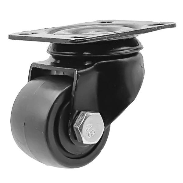 1.5 inch Black Solid PU Swivel Caster Wheel No Brake